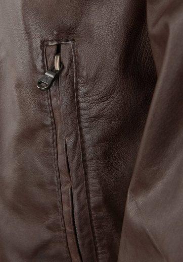 Otto Kern Lederjacke aus leicht gewachstem Leder, Brusttaschen
