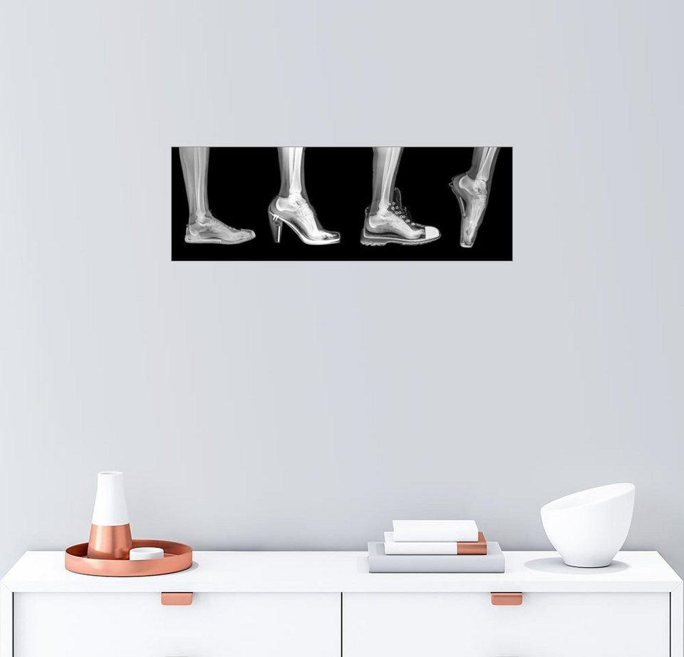 Posterlounge Wandbild   PhotoStock Israel »Verschiedene Schuhe  (Röntgenbild)«