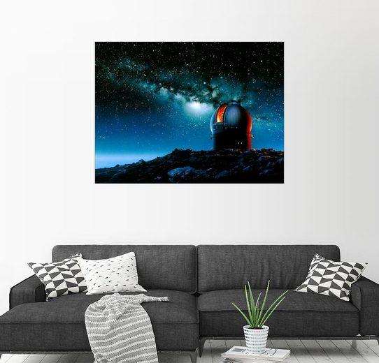 Posterlounge Wandbild - Detlev van Ravenswaay »Mauna Kea Teleskop Kuppel, Grafik«