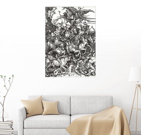 Posterlounge Wandbild - Albrecht Dürer »Die vier apokalyptischen Reiter«