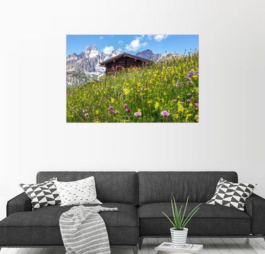 Posterlounge Wandbild - Coen Weesjes »Blumenwiese in den Bergen«