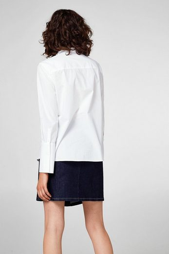 EDC BY ESPRIT Bestickte Bluse, 100% Baumwolle