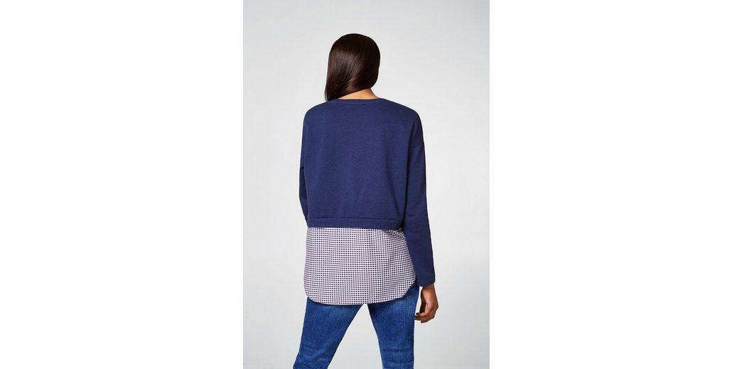 Billig 100% Original EDC BY ESPRIT 2-in-1-Sweater mit Glitzer-Print Billig Verkauf Neuesten Kollektionen SEYHY9R