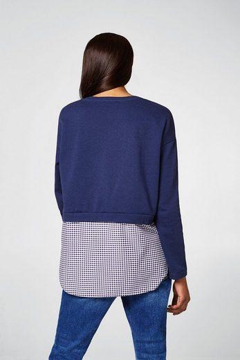EDC BY ESPRIT 2-in-1-Sweater mit Glitzer-Print