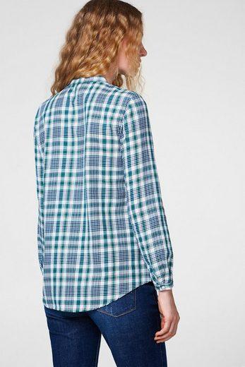 ESPRIT Softe Bluse mit Rüschen, 100% Baumwolle