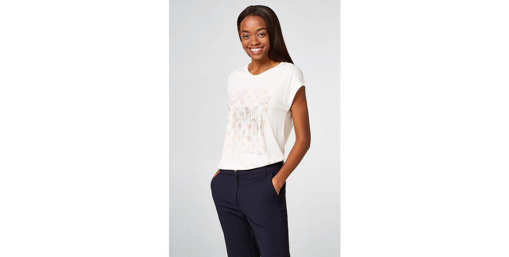 Manchester ESPRIT COLLECTION Fließendes Shirt mit Folien-Print Größte Anbieter Verkauf Online gCuwq