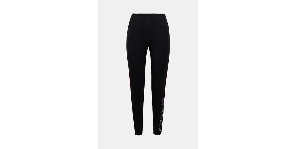 ESPRIT Jersey-Pants mit Pipings, Baumwoll-Mix