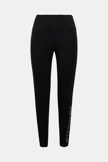 Esprit Jersey Pants With Piping, Cotton-mix