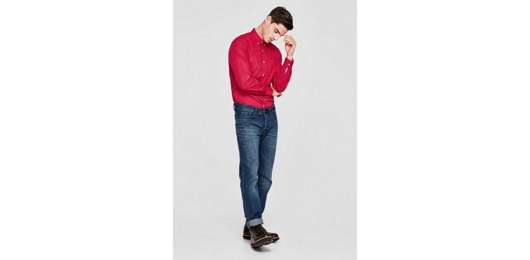 Angebote Freie Verschiffen-Spielraum s.Oliver RED LABEL Slim: Button-Down-Hemd mit Muster Spielraum Bestseller Billig Vorbestellung Kt5YFE