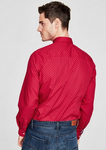 s.Oliver RED LABEL Slim: Button-Down-Hemd mit Muster