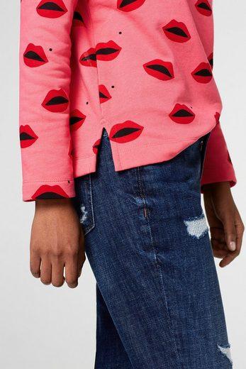 EDC BY ESPRIT Sweatshirt mit Lippen-Print