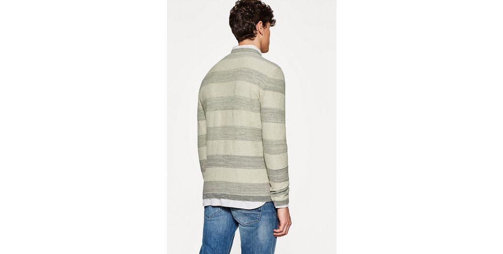 ESPRIT COLLECTION Gestreifter Strick-Sweater aus Baumwolle Günstig Kaufen Authentisch Spielraum VtlXYq