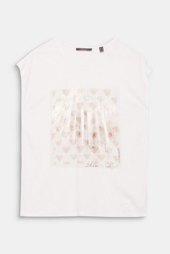 ESPRIT COLLECTION Fließendes Shirt mit Folien-Print