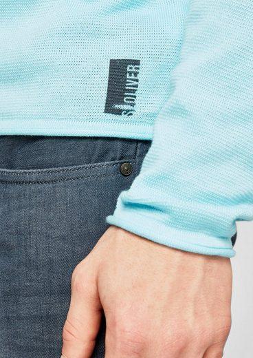 S.oliver Rouge Étiquette Strickpulli Dans Le Vêtement Colorant