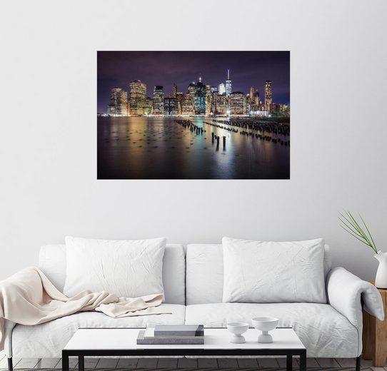 Posterlounge Wandbild - Dennis Fischer »Downtown New York City«
