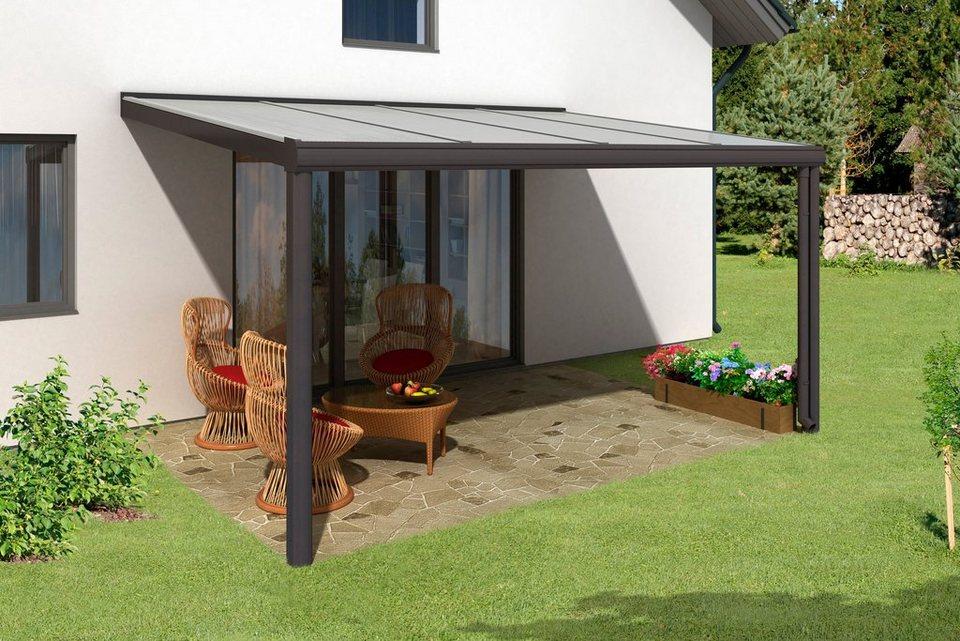skanholz terrassenuberdachung, skanholz terrassendach »genua«, breite: 434 cm, anthrazit online, Design ideen