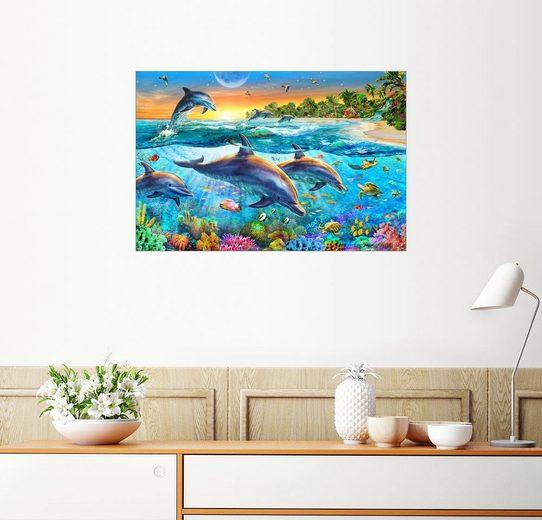 Posterlounge Wandbild - Adrian Chesterman »Die Bucht der Delfine«