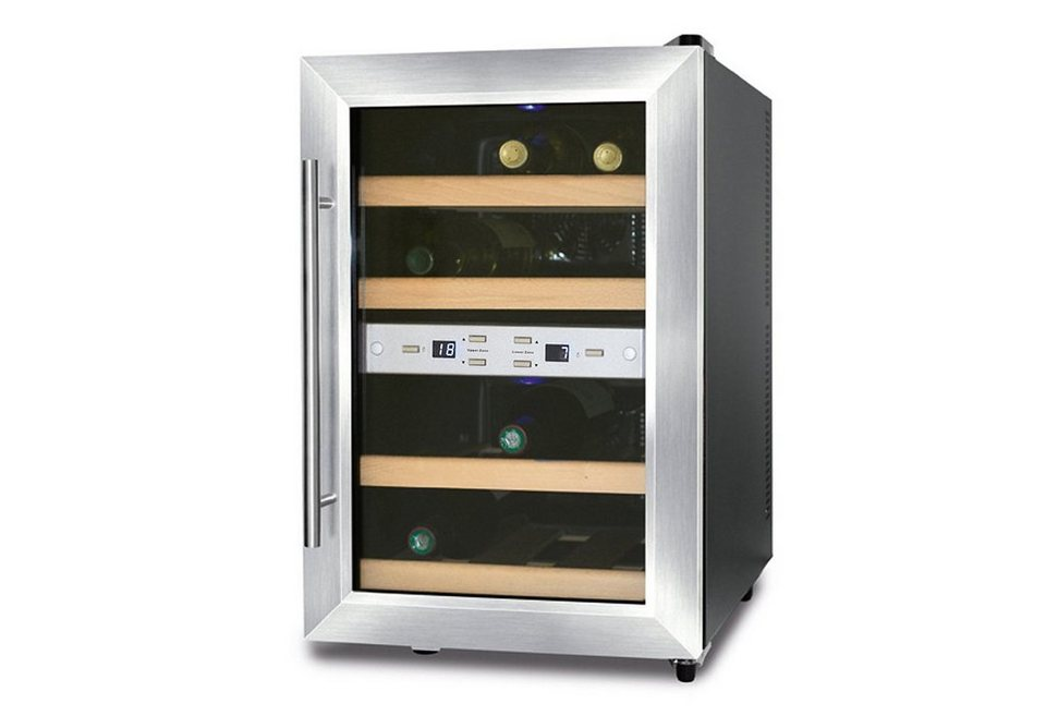 CASO Design Weinkühlschrank »Wine Duett 12«, Höhe 54 cm, für 12 ...