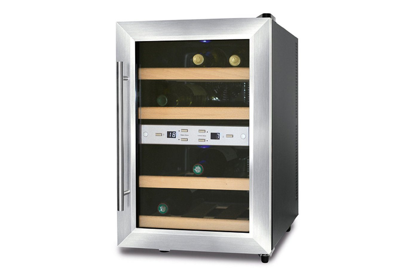 Side By Side Kühlschrank Mit Weinkühler : Caso weinkühlschrank wine duett für standardflaschen á