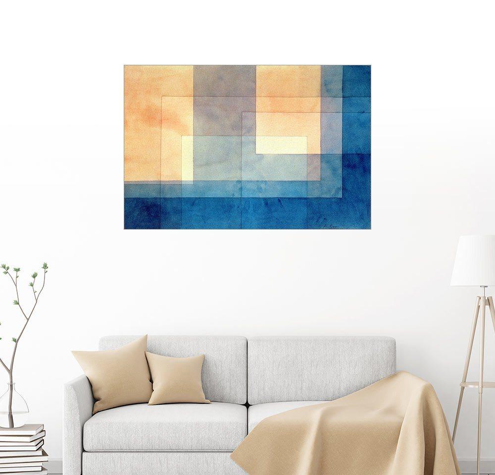 Posterlounge Wandbild - Paul Klee »Haus auf dem Wasser« | Dekoration | Holz | Posterlounge