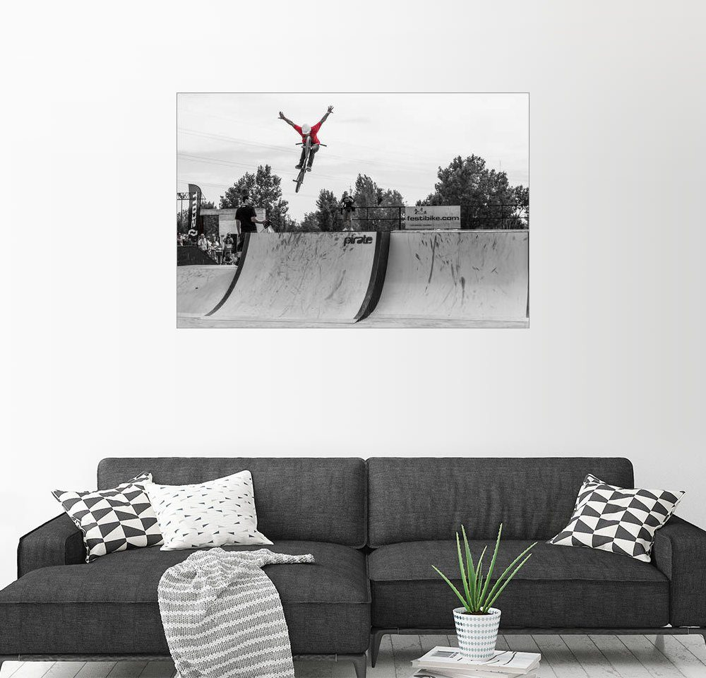 Posterlounge Wandbild - Alejandro Moreno de Carlos »BMX fahrrad sprung. Extremsport«