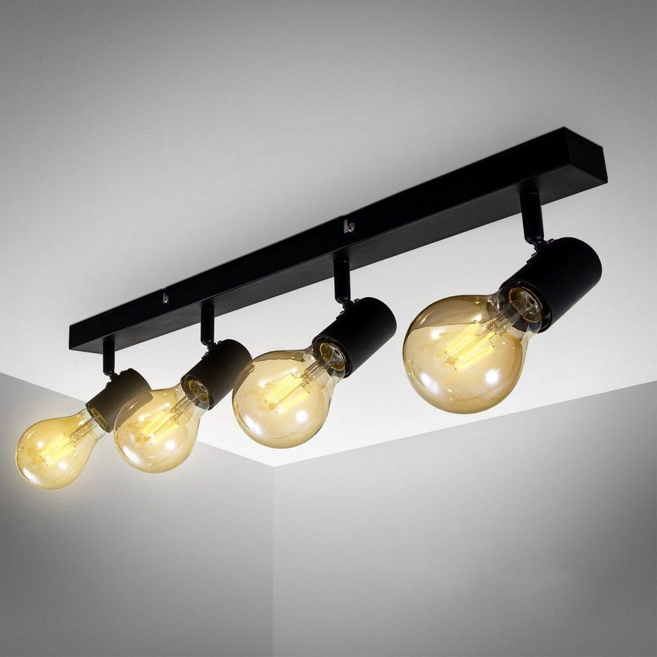 Spot Schwarz Gold Metall Schirm E27 Retro flexibler Deckenstrahler Wohnzimmerlampe Deckenleuchte