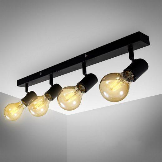 B.K.Licht LED Deckenspots, vintage LED Deckenleuchte, dreh und schwenkbar