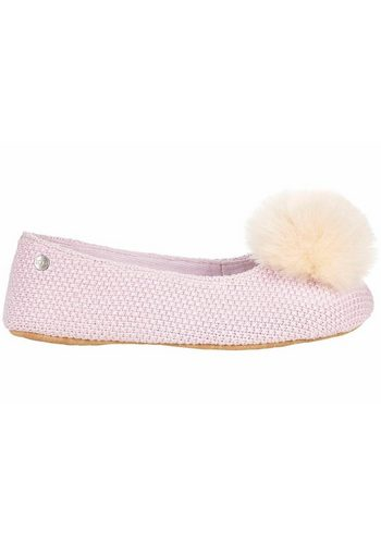 Damen UGG Andi Hausschuh mit toller Lammfellbommel rosa | 00191142357043