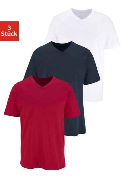 11e6e85564c372 V-Ausschnitt-T-Shirts in großen Größen online kaufen | OTTO