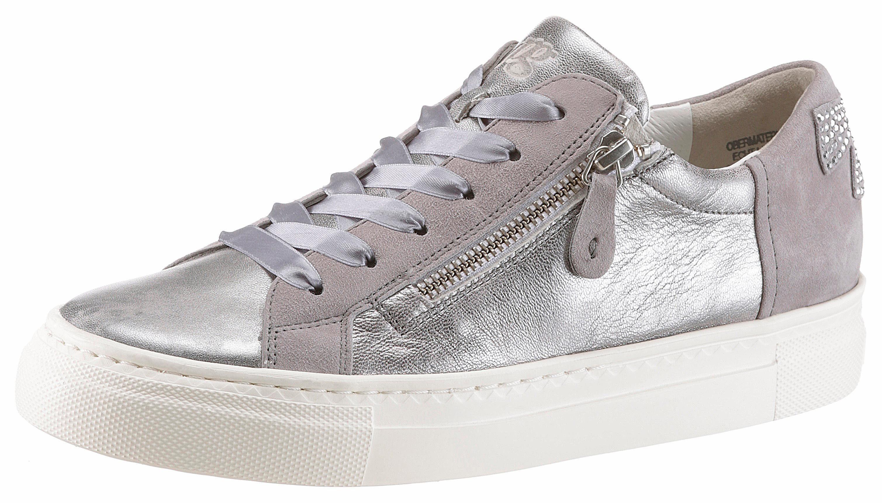 Paul Green Sneaker, mit schöner Verzierung, silberfarben, silberfarben-hellgrau