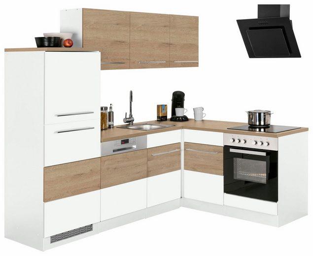 Winkelküche »Trient«, mit E-Geräten, Stellbreite 230 x 170 cm