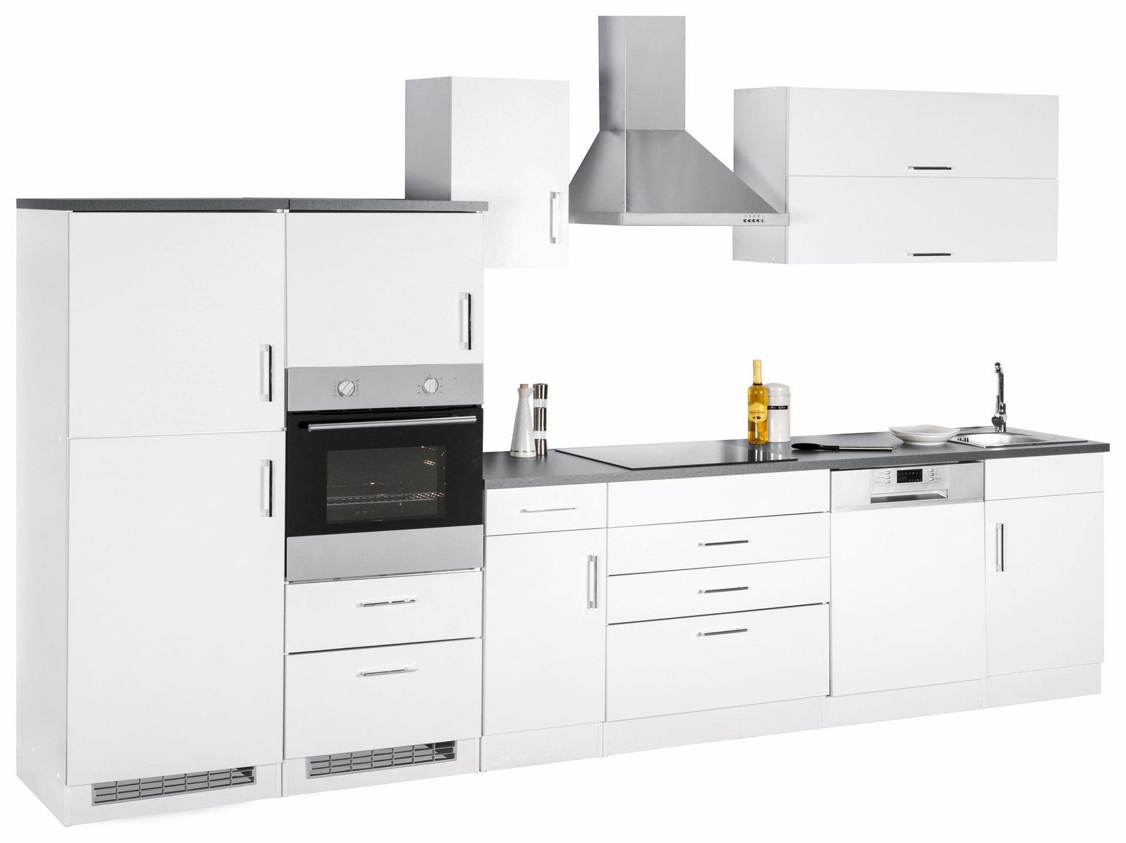 HELD MÖBEL Küchenzeile mit E-Geräten »Graz«, Breite 350 cm