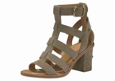 UGG »Macayla« Sandalette, im knöchelhohem Riemchen-Look, grün, khaki