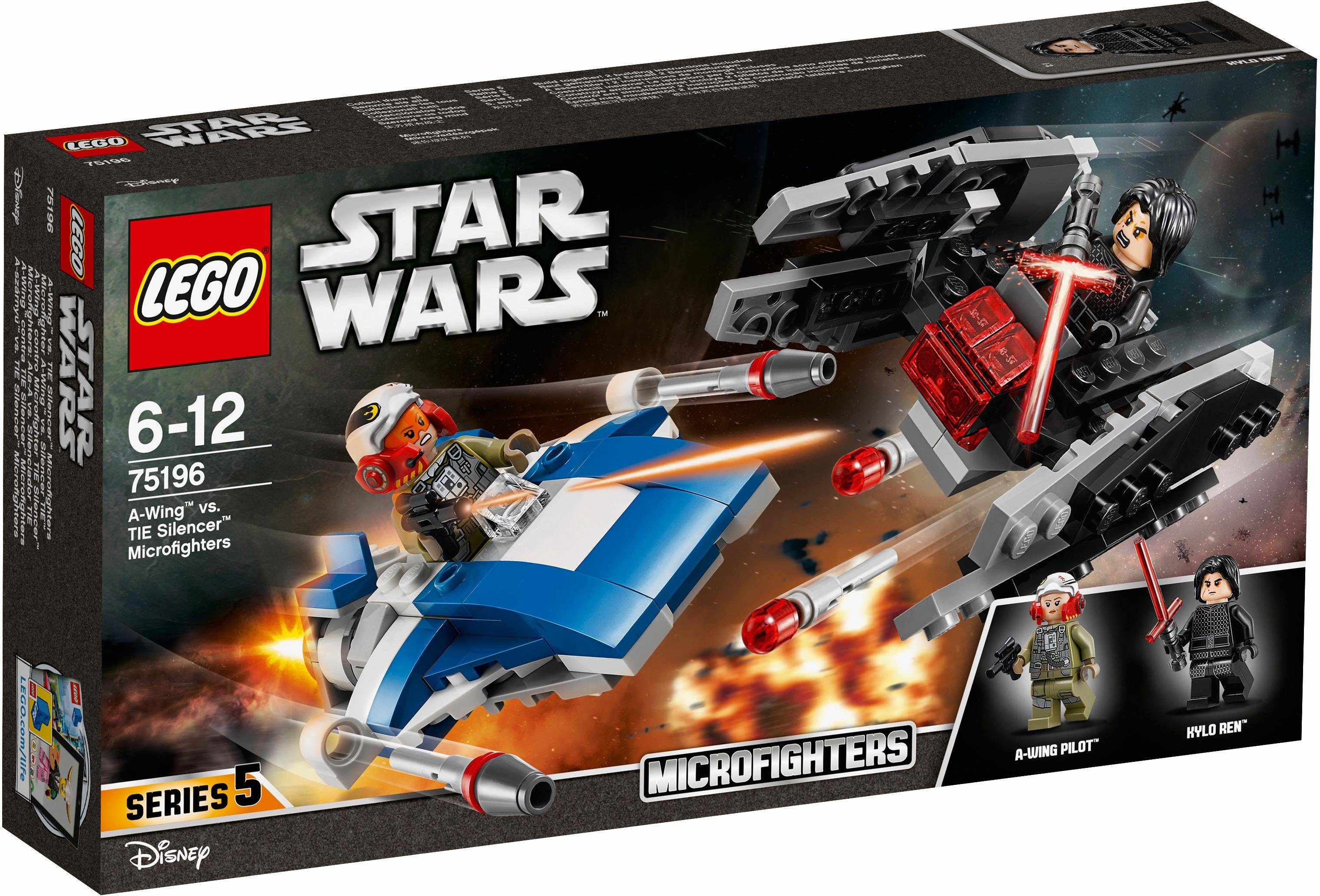 LEGO® A-Wing™ vs. TIE Silencer™ Microfighters (75196), »LEGO® Star Wars™«