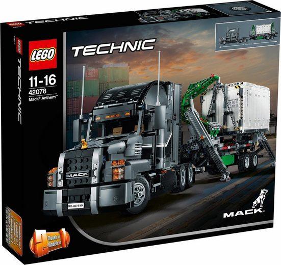 LEGO® Konstruktionsspielsteine »Mack® Anthem (42078), LEGO® Technic«, (2595 St)