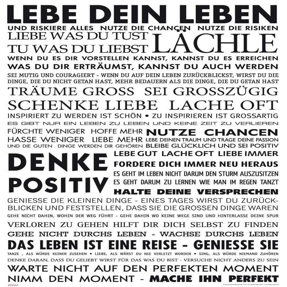 Home affaire, Deco Panel, »Lebe dein Leben«, 50/50cm