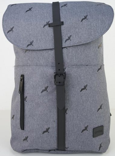 Spiral® Backpack With Laptop Compartment, Tribeca, Bird Charcoal