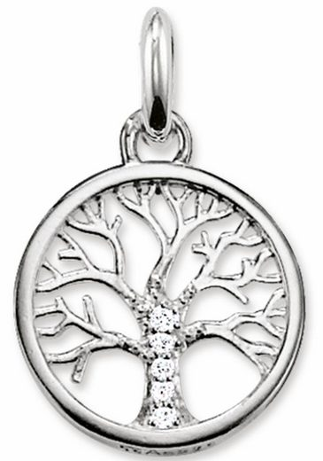 THOMAS SABO Kettenanhänger »Lebensbaum, KC0002-051-14« mit Zirkonia