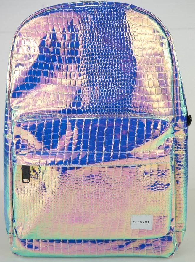 Spiral® Rucksack mit Laptopfach, »OG Platin, textured sapphire holographic«