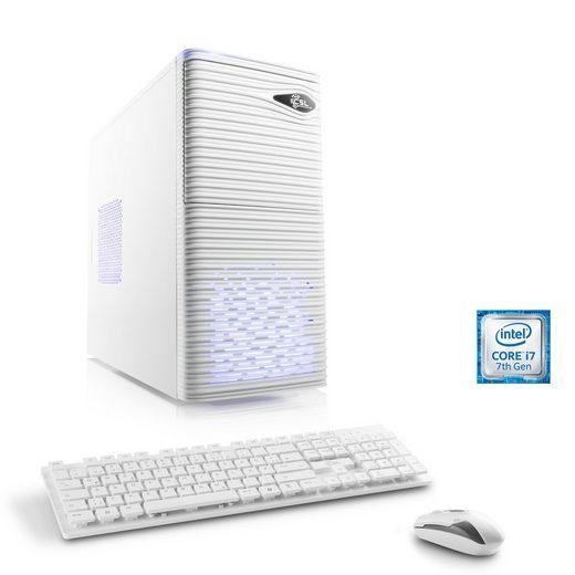 CSL Gaming PC, Intel Core i7-7700, GTX 1050, 8 GB RAM, SSD »Speed T7872 Windows 10 Home«