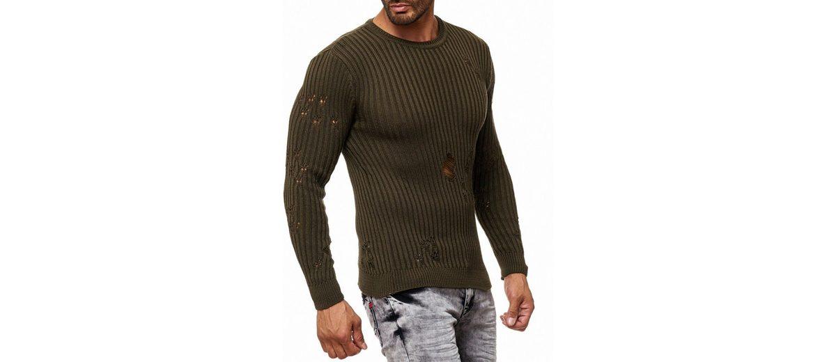 Rusty Neal Strick-Pullover mit extravaganter Ausführung Sehr Billig Verkauf Online U420A