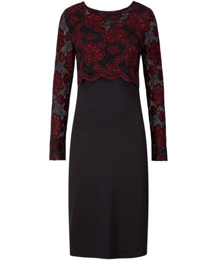 Joe Browns Partykleid Joe Browns Womens Occasion Dress with Red Lace Crop Overlay