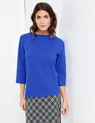 Gerry Weber T-Shirt 3/4 Arm Blusenshirt mit Minimaljacquard