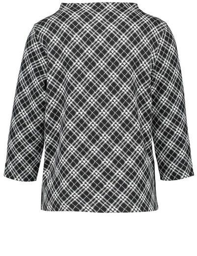 Gerry Weber T-Shirt 3/4 Arm Blusenshirt mit Karodessin