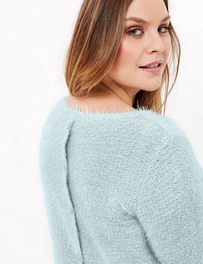Samoon Pullover Long Sleeve Crew-neck Sweater Made Of Soft Fleece Yarn