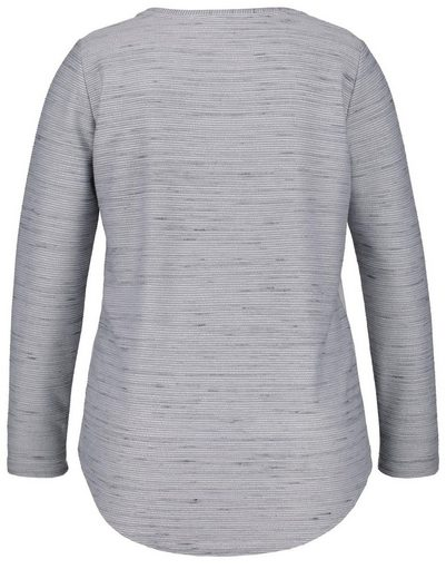 Samoon T-shirt Long Sleeve Crew Neck Langarmshirt From Structurally-jersey