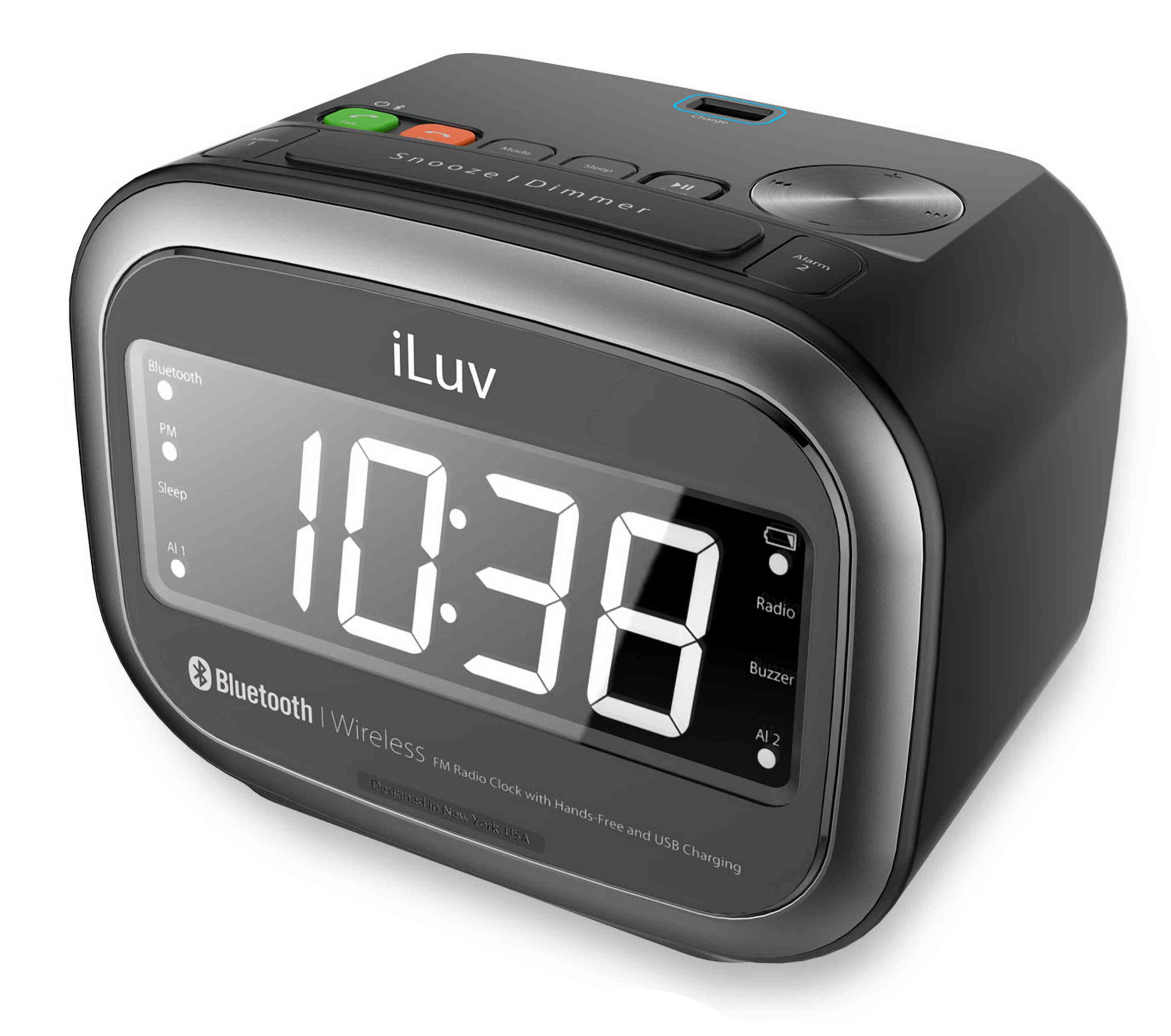 iLuv FM Radiowecker mit Dual Alarm, Bluetooth, USB »Morning Call 2«