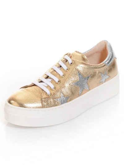 Alba Moda Sneaker in goldfarbener Metallic-Optik f111e6de2f