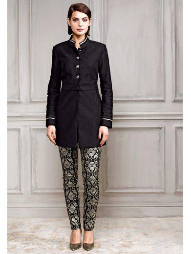 Alba Moda Skinny-Jeans und goldfarbiger Beschichtung