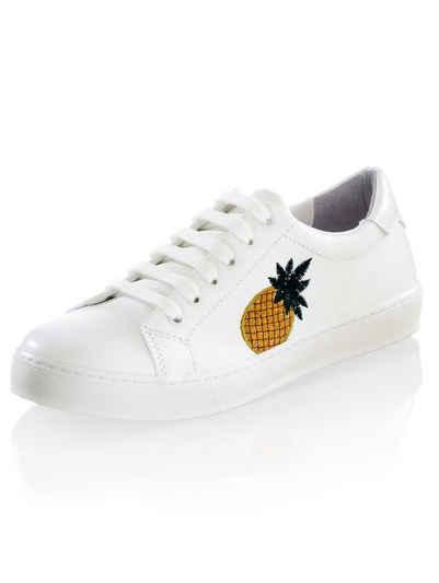Alba Moda Sneaker seitlich mit Ananas-Stickerei 8e1adbbadc